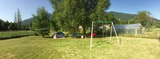 Collaborative economy Camp in my garden